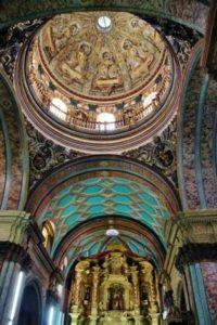 Interior of the Cathedral of Quito in Ecuador