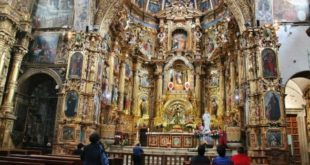 Interior of the San Francisco church in Quito