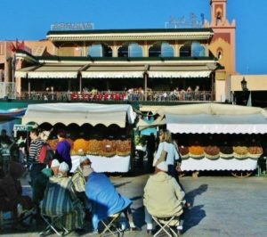 Jemaa El Fna Square in Marrakech in Morocco