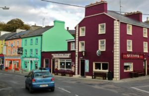 Kinvarra village on the route of the Atlantic coast of Ireland