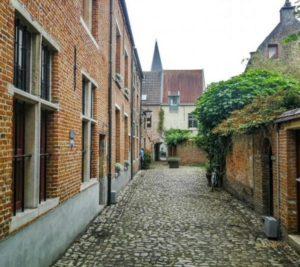 Little Beguinage in Mechelen in Flanders in Belgium