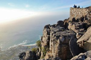 Lookout on Table Mountain in Cape Town