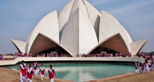 Lotus Temple in Delhi in India