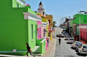 Malay neighborhood of Bo-Kaap in Cape Town in South Africa