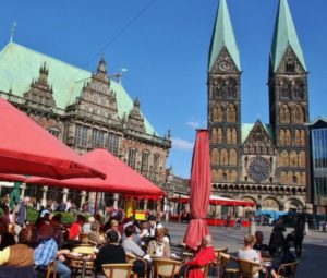 Market Square of Bremen in Germany