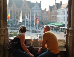 Market Square from the Beer Museum in Bruges
