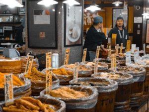 Market in Kyoto in Japan