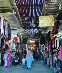 Marrakesh souks in Morocco