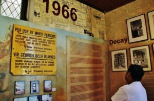 Memory of apartheid in museum of the District 6 of Cape Town