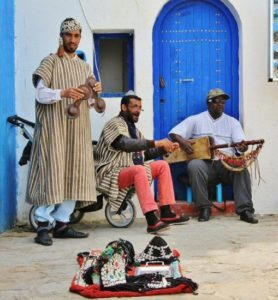 Moroccan music in the medina of Asilah in northern Morocco