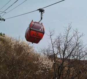 Mutianyu cable car in the Great Wall of China