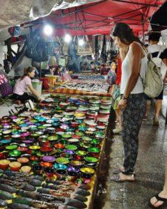 Night Market in Luang Prabang in Laos