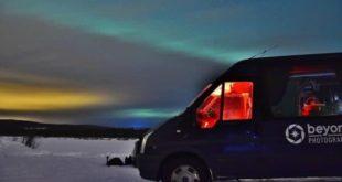 Northern lights in Rovaniemi in Lapland in Finland