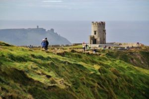 O'Brien Tower on Cliffs of Moher in Ireland