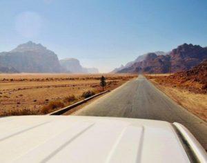 Off-road excursion through the Wadi Rum desert in Jordan