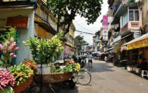 Old quarter of Hanoi in Vietnam