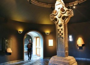 Original Cross of the Scriptures in Clonmacnoise Museum