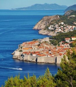 Panoramic views of Dubrovnik in Croatia