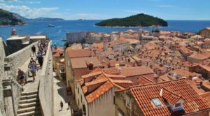 Panoramic views of Dubrovnik in Croatia from its walls