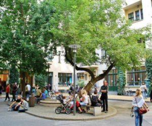 Patios Hackesche Hofe of the Jewish Quarter of Berlin