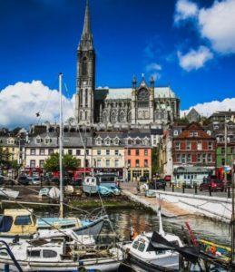 Port of Cobh near Cork in southern Ireland