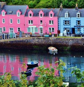 Portree on the Isle of Skye in Scotland