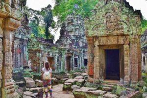 Preah Khan temple in Cambodia