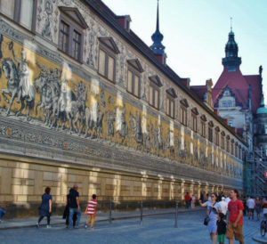 Procession of the Prince in the historic center of Dresden