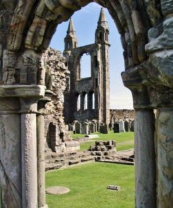 Remains of St Andrews Cathedral in Scotland