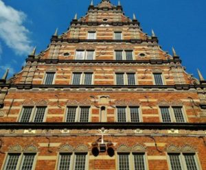 Renaissance facade in building of the historic center of Bremen