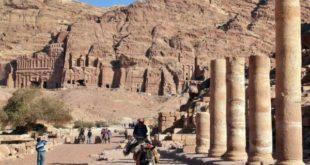 Roman remains in Petra in Jordan