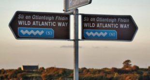 Route of the Atlantic coast of Ireland