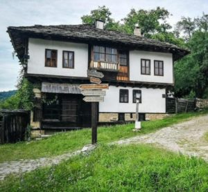 Rural architecture in Bozhensti in Bulgaria
