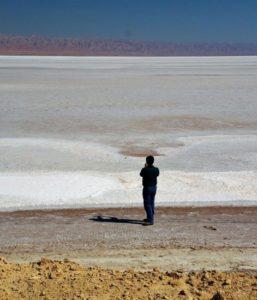 Salt Lake Chott El Jerid in Tunisia
