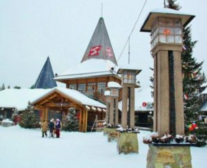 Santa Claus Village in Rovaniemi in Lapland Finland