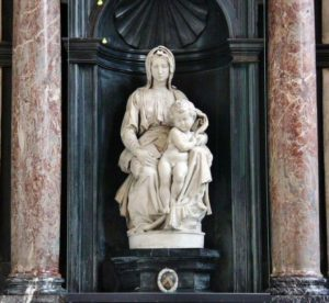 Sculpture Virgin and Child by Michelangelo in Bruges