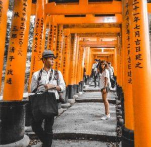 Shinto Shrine of Fushimi in Japan