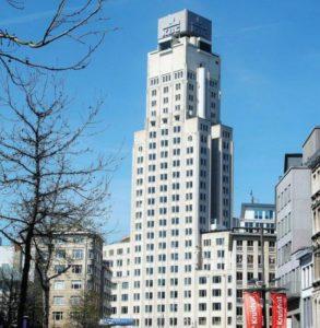 Skyscraper Tower Boerentoren in the center of Antwerp
