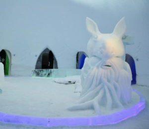 Snowman World in Santa Claus Village in Rovaniemi