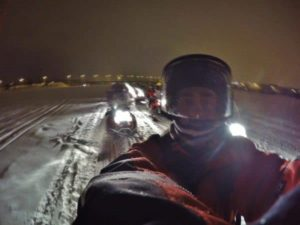 Snowmobile tour to see northern lights in Rovaniemi