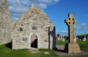 Southern Cross in Clonmacnoise in Ireland