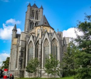 St. Bavo Cathedral in Ghent in the Belgian region of Flanders
