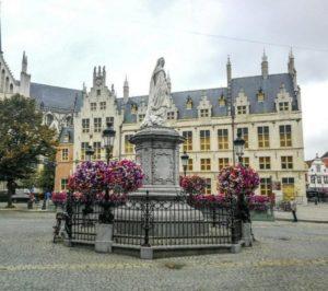Statue of Marguerite of Austria in Mechelen in Flanders in Belgium
