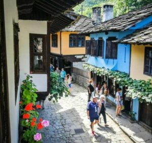 Street of the Artisans of the Etara museum in Gabrovo in Bulgaria