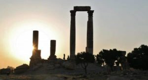 Temple of Hercules in the Amman Citadel in Jordan