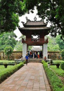 Temple of Literature in Hanoi in Vietnam