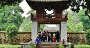 Temple of Literature in Hanoi in Vietnam