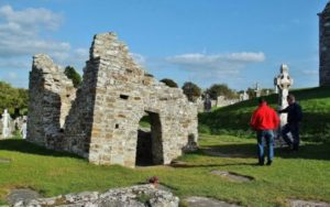 Temple of St. Ciarano in Clonmacnoise in Ireland