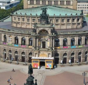 Theater of the Opera from the tower of the Royal Palace of Dresden