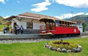 Tourist Train of Liberty near Quito